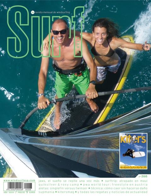 El Daffi Team en la portada de la revista Surf a Vela